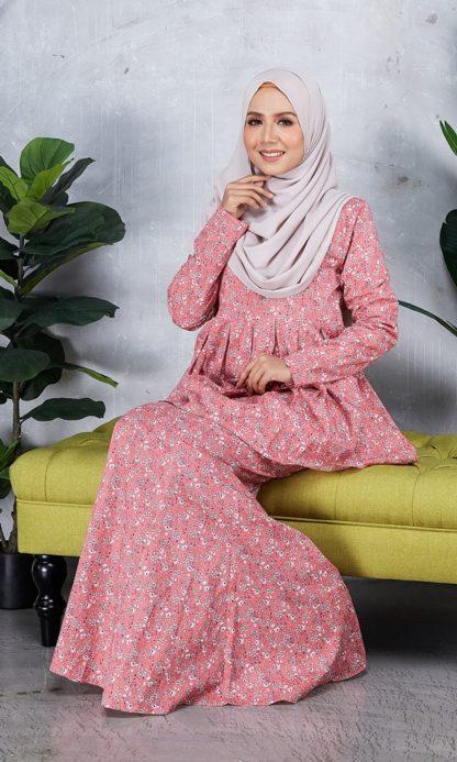 Baju Peplum Haya01 Pink 4