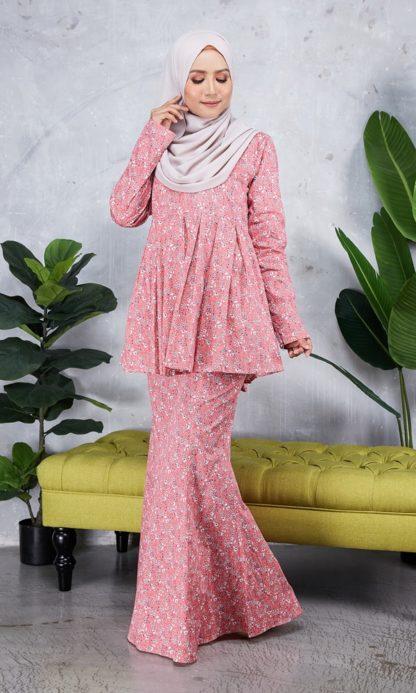 Baju Peplum Haya01 Pink 1