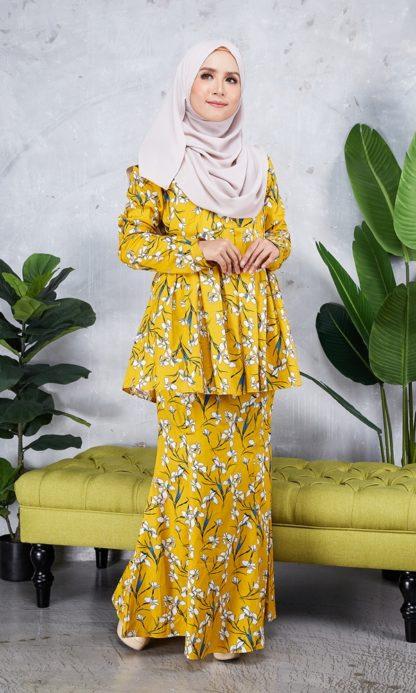 Baju Peplum Haya02 Kuning Mustard 2