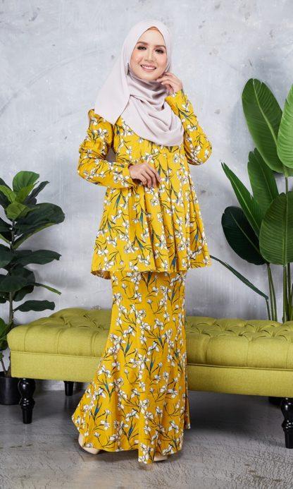 Baju Peplum Haya02 Kuning Mustard 3
