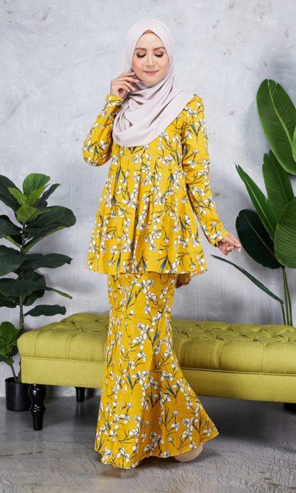 Baju Peplum Haya02 Kuning Mustard 1