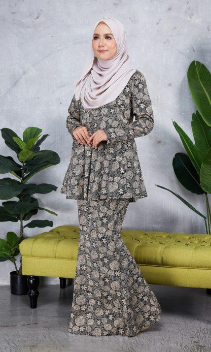 Baju Peplum Haya03 Coklat 1