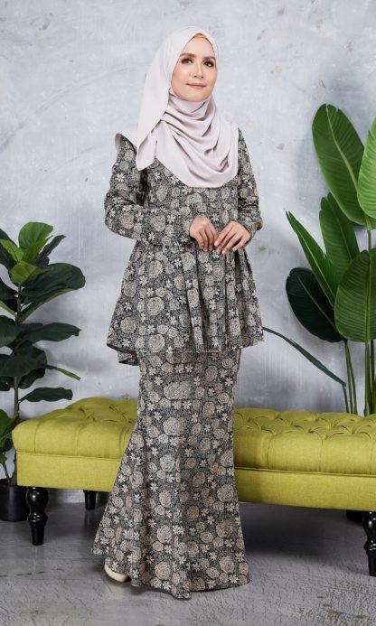 Baju Peplum Haya03 Coklat 3