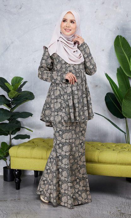 Baju Peplum Haya03 Coklat 4