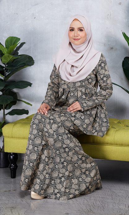 Baju Peplum Haya03 Coklat 5