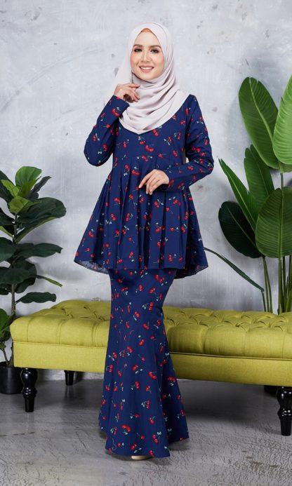 Baju Peplum Haya04 Dark Blue 1