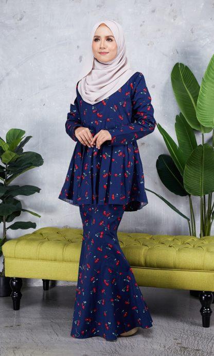 Baju Peplum Haya04 Dark Blue 3