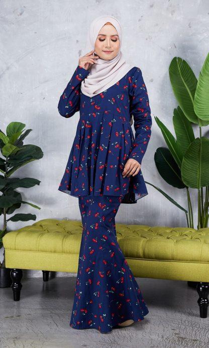 Baju Peplum Haya04 Dark Blue 4