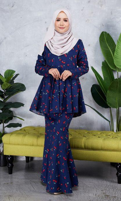 Baju Peplum Haya04 Dark Blue 2