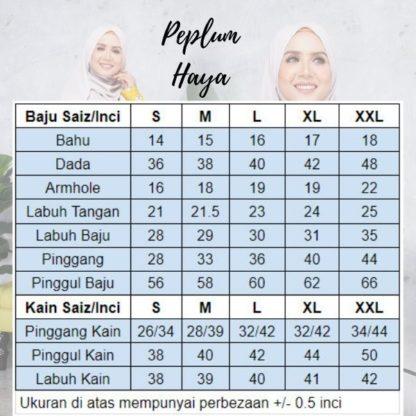 Baju Peplum Haya03 Coklat 6