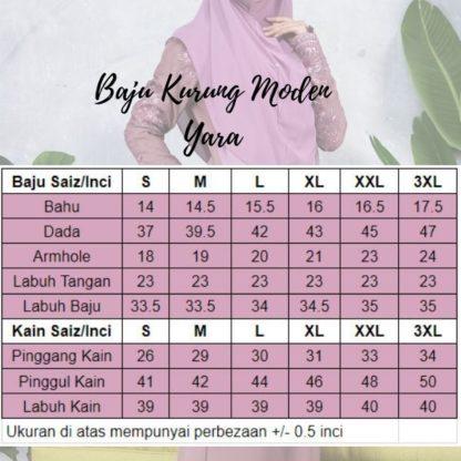 Baju Kurung Moden Sulam Yara01 Grape Purple 5