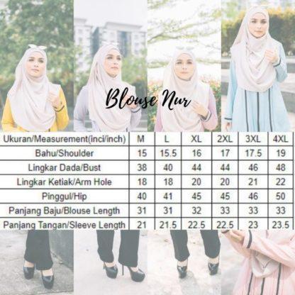 Nur05 Blouse Muslimah Light Blue 6