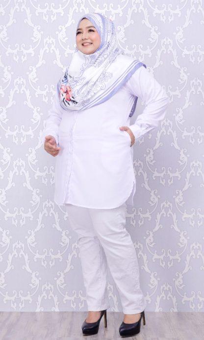 Balqis01 Kemeja Wanita Putih 10