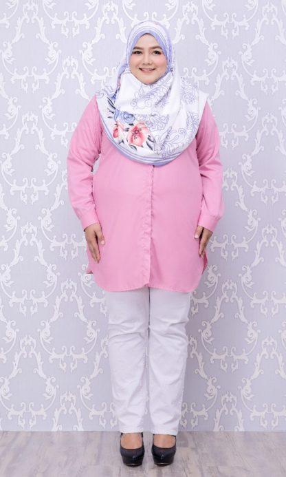 Balqis03 Kemeja Wanita Pink 3