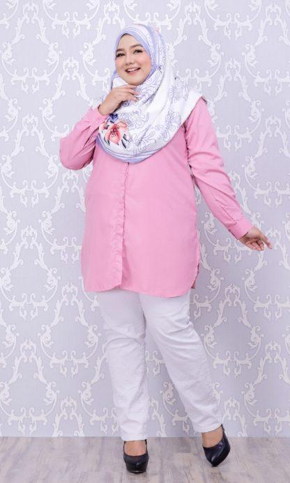 Balqis03 Kemeja Wanita Pink 4