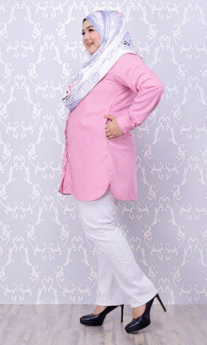 Balqis03 Kemeja Wanita Pink 6