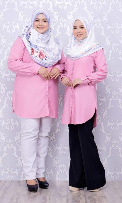 Balqis03 Kemeja Wanita Pink 2