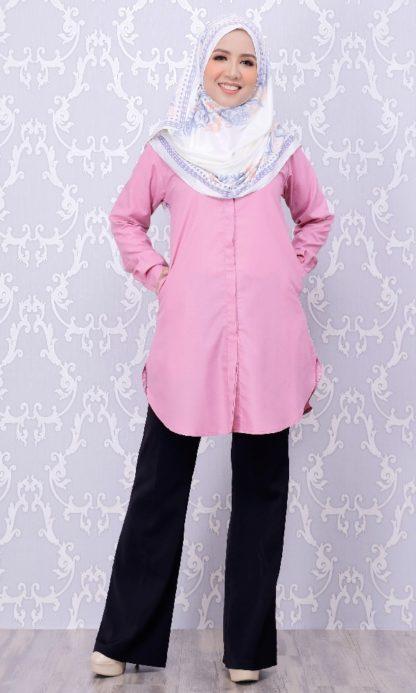 Balqis03 Kemeja Wanita Pink 5