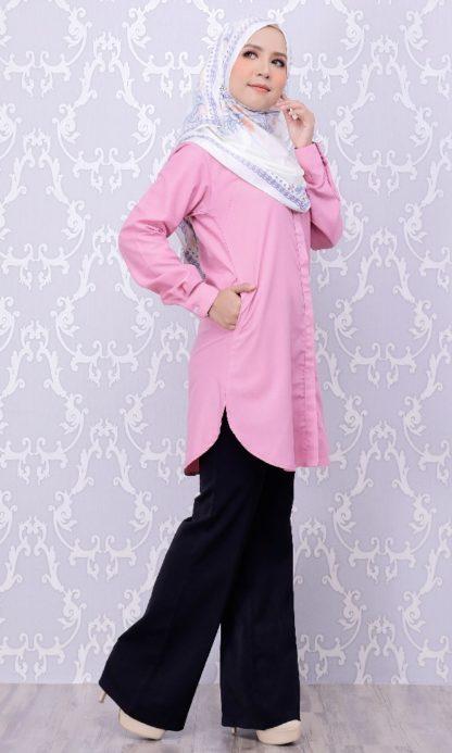 Balqis03 Kemeja Wanita Pink 9