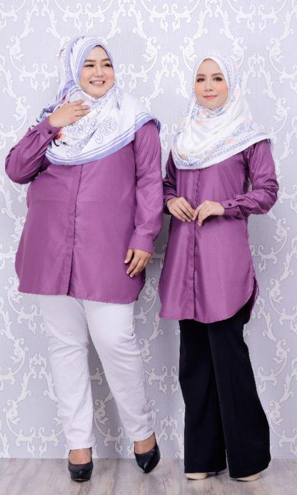 Balqis04 Kemeja Wanita Purple 1