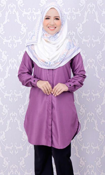Balqis04 Kemeja Wanita Purple 9