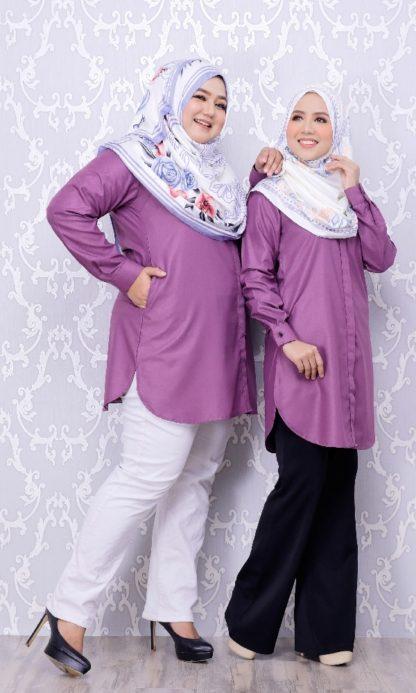 Balqis04 Kemeja Wanita Purple 2