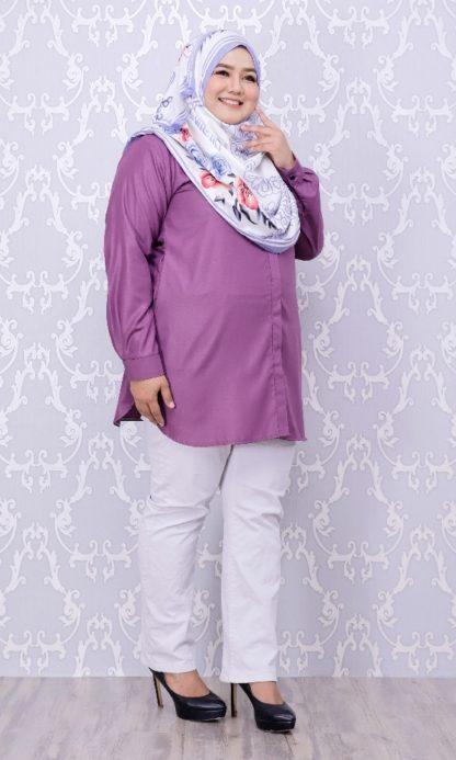 Balqis04 Kemeja Wanita Purple 3