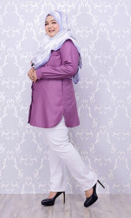Balqis04 Kemeja Wanita Purple 5