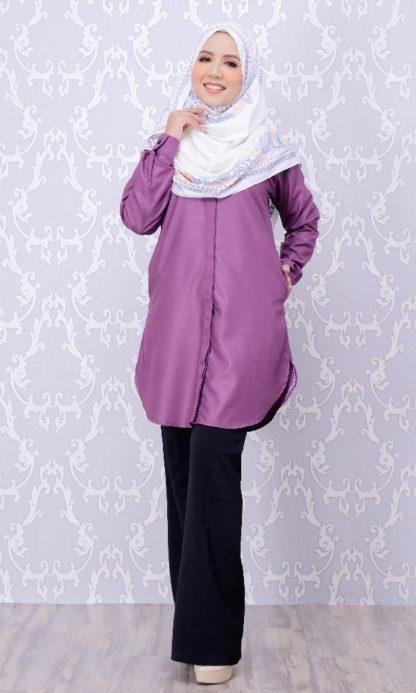 Balqis04 Kemeja Wanita Purple 6