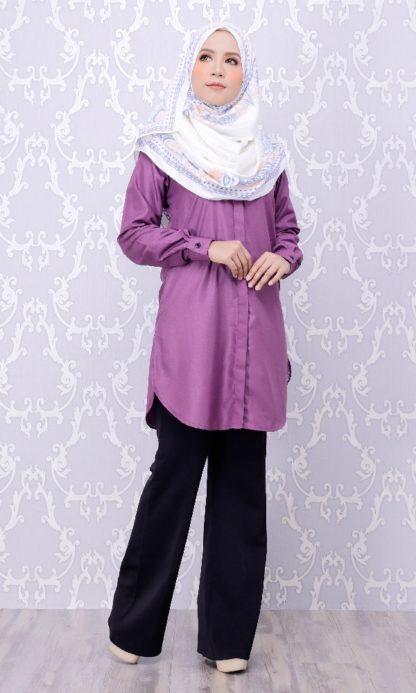 Balqis04 Kemeja Wanita Purple 7