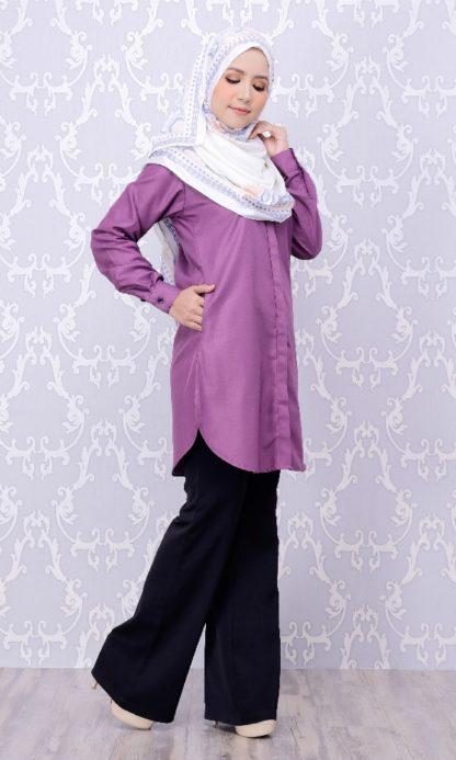 Balqis04 Kemeja Wanita Purple 8