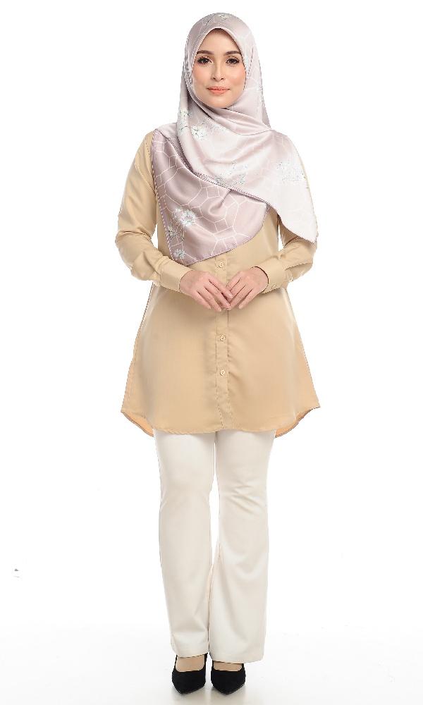 Shira25 Kemeja Wanita Khaki 14
