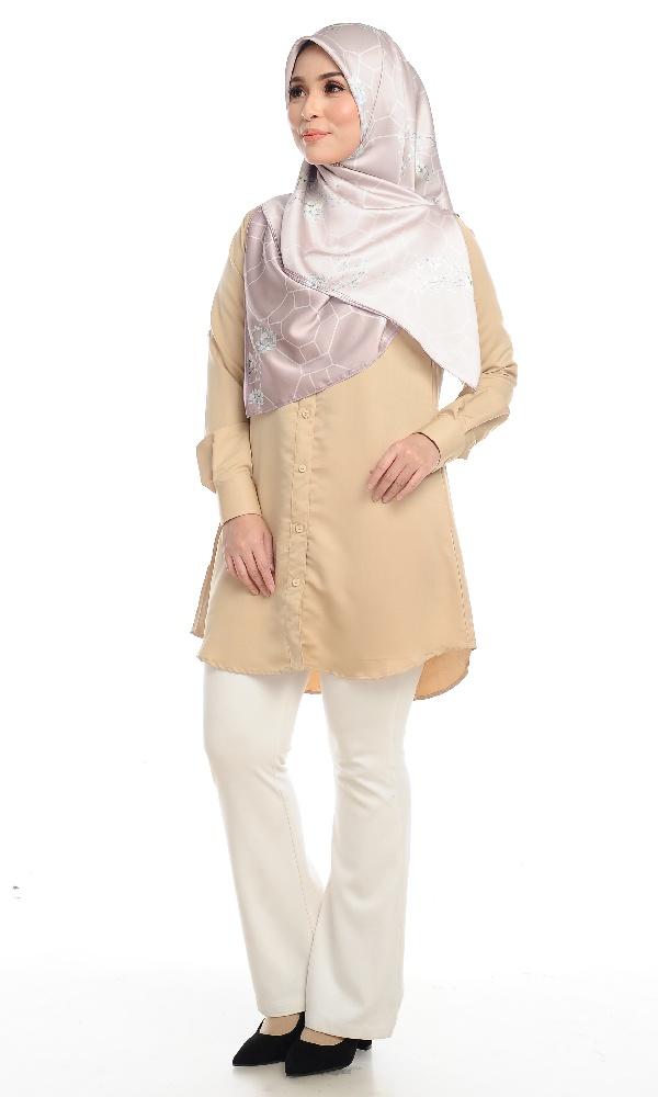 Shira25 Kemeja Wanita Khaki 15