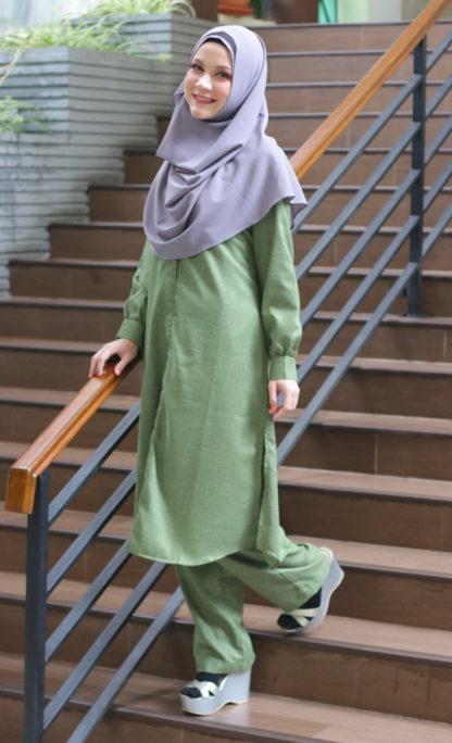 Eliya03 Jubah Seluar Green 3