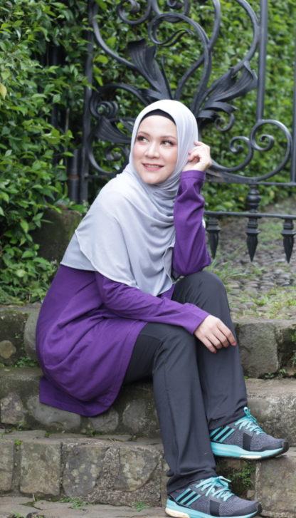 T Shirt Muslimah Haleema H9020A Purple 3