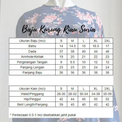 Baju Kurung Riau Bercorak Suria03 Hitam 4