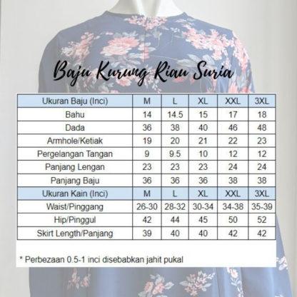 Baju Kurung Riau Bercorak Suria05 Pink 4