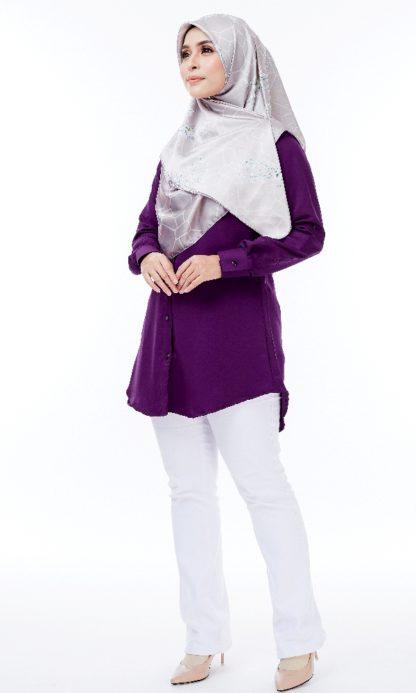 Shira32 Kemeja Wanita Byzantium Purple 3