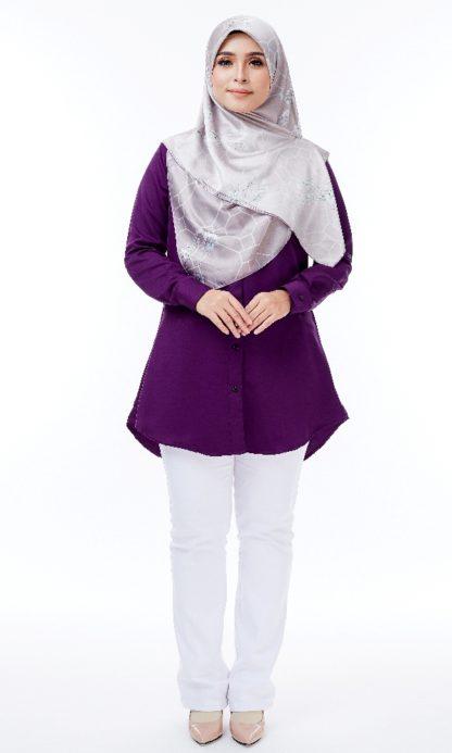 Shira32 Kemeja Wanita Byzantium Purple 1