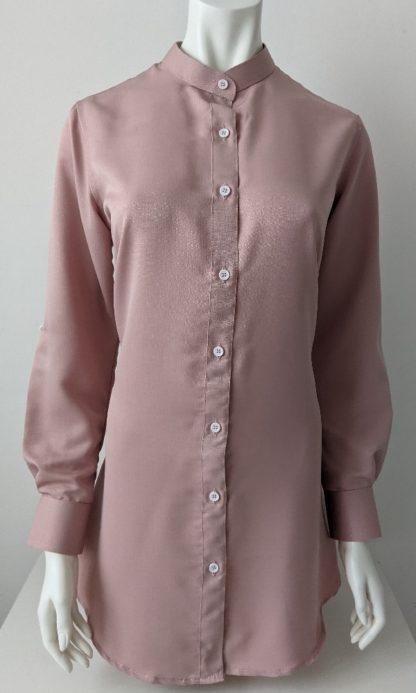 Shira31 Kemeja Wanita Light Pastel Pink 5
